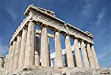 AOFOTO 7x5ft Parthenon Temple Backdrop For Photography Acropolis of Athens Column Stone Pillar Background Greek Travel Photo Studio Props Lovers Adult Girl Boy Man Artistic Portrait Wallpaper