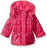 Pink Platinum Baby Girls Star Foil Puffer, Pink