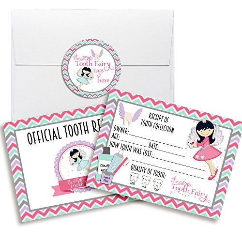 (Official Tooth Fairy Receipts for Girls, Ten 3.5