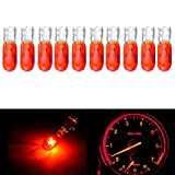 mitsubishi 3000gt speedometer - CCIYU T5 37 74 286 Wedge Halogen LED Interior Light Bulbs Instrument Cluster Gauge Dash Lamp,10Pack