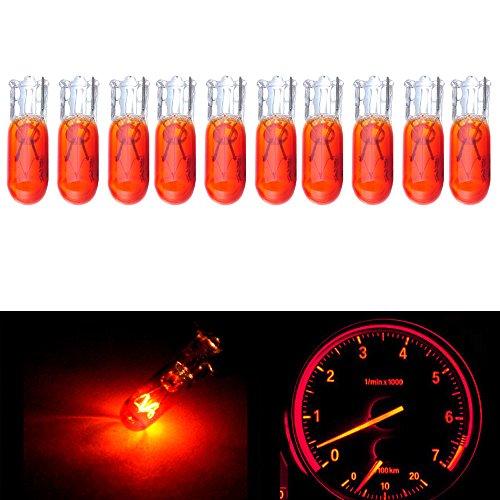 cciyu T5 37 74 286 Wedge Halogen LED Interior Light Bulbs Instrument Cluster Gauge Dash (S10 Truck Engine)