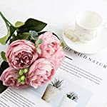 AntranStore-Artificial-5-Heads-Roses-Fake-Silk-FlowersArtificial-Flower-Rose-Artificial-Roses-for-Home-Wedding-Birthday-Party-Decoration-Fake-FlowersPack-of-2-Pink