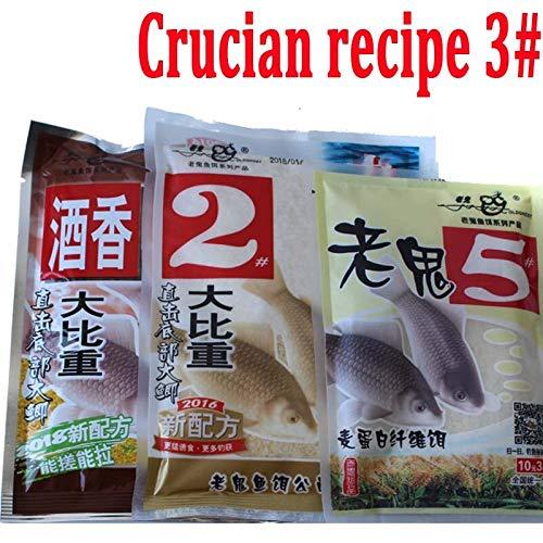 Herabuna Fishing Crucian Bait Recipe 3# Carp Fishing Lure Sweet Aroma Favor Dough Japanese Method Catching Crucian Fishmeal Crucian Bait Recipe