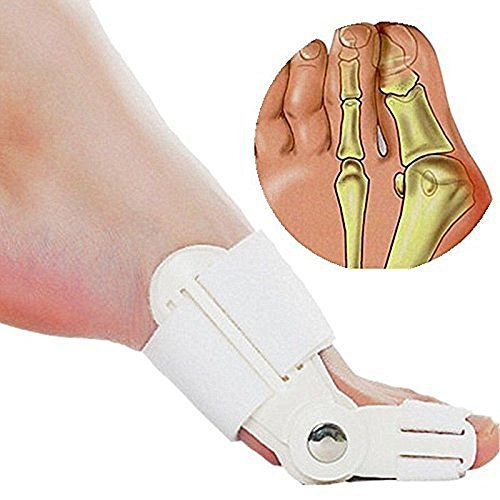 Adjustable Bunions Splint Toe Spacers Straighteners and Big Toe Bunions Corrector Brace Pads Night Or Day Time for Bunions Relief by Hobbyunion