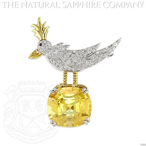 Diamond & Sapphire Brooch - 3