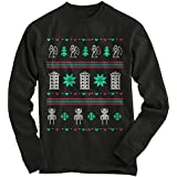 Gnarly Tees Men's Doctor Who Ugly Christmas Sweater L Black