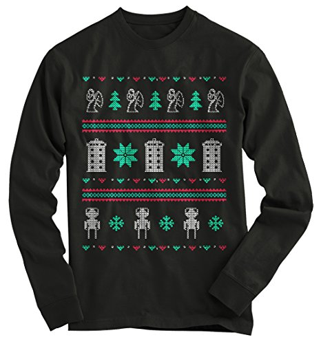 (Gnarly Tees Men's Doctor Who Ugly Christmas Sweater L)