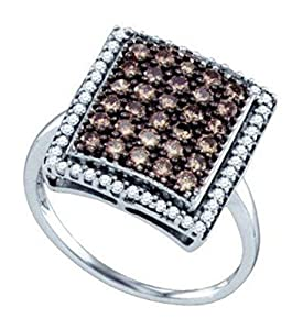 1 cttw 10k No Metal Type Brown Diamond Fashion Engagement Ring,