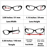 Reading Glasses Women - Spring Hinge and Dura-Tight Screws Multi Colors Options