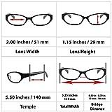Reading Glasses 3.75 2 Black 2 Red (4 Pack) 9502