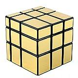 D-FantiX Shengshou Mirror Cube 3x3 Magic Cube Puzzles Golden Black