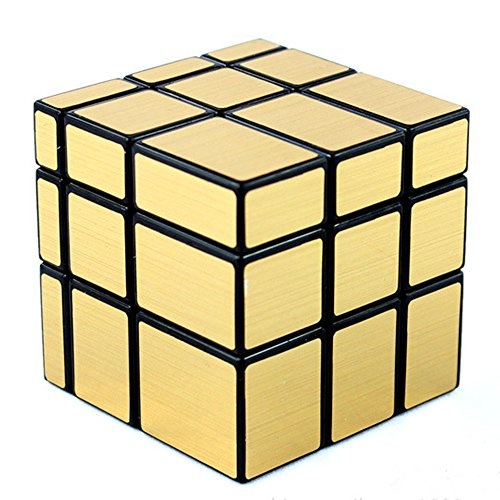 D-FantiX Shengshou Mirror Cube 3x3 Speed Cube Gold Mirror Blocks (Gold Cube)