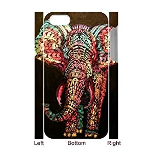 Customized Durable Case for iPhone 5c 3D, Colored Elephant Phone Case - HL-698744