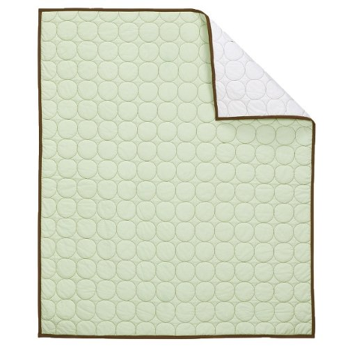 Quilted Circles Green/Choc Crib Quilt
