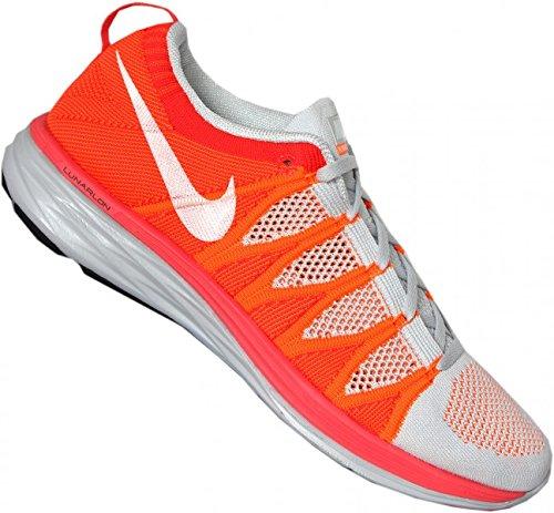 lowest price 642aa 01077 Galleon - Nike Men s Flyknit Lunar2, PR PLATINUM WHITE-ATMC ORANGE-BRGH C,  11 M US