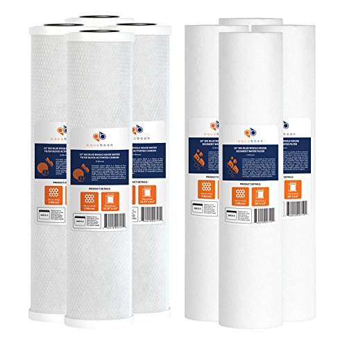 "Aquaboon Big Blue CTO Carbon Block & Sediment 20""x4.5"" Replacement Filter Cartridges Set"