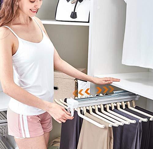 Bufandas Faldas,32.5 * 46cm,Blanco Corbatas LHY SAVE Pantalonero Extraible para Armario Multifuncional Perchas para Pantal/ón Pantalonero Extra/íble Doble Gu/ía para 9 Pantalones