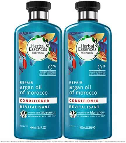 Herbal Essences, Paraben Free Conditioner, BioRenew Argan Oil of Morocco, 13.5 fl oz Twin Pack