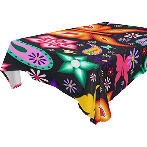 Table Cloth Colorful Butterfly Pattern Rectangle/Oblong Polyester Tablecloth Washable Table Cover for Dinner Picnic, Buffet Table, Parties]()