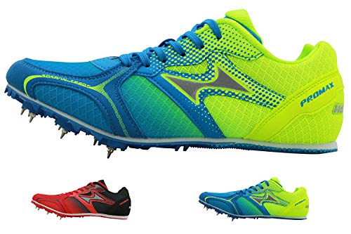 HEALTH Boy's Girl's Track & Field Shoes Spike Running Mesh Breathable Professional Sports Shoes 5599 Blue