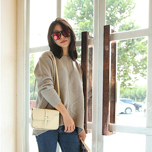 Shoulder Crossbody Bag Bag Leather Leisure Shoulder Little Paymenow Messenger Bag Cross Beige Handle Body wIAnxBfgIq