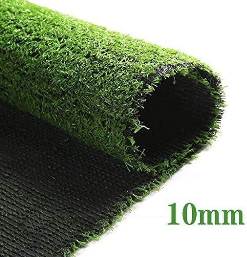 Kunstrasen, Kunstrasen, Florhöhe 10 MM, Verschlüsselung fortschrittlicher Kunstteppich, verwendet im Innen- oder Außengarten, Terrasse, Farbe: grün YNFNGXU (Size : 2x2m)