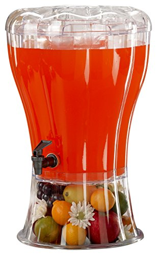 Buddeez Unbreakable 3-1/2-Gallon Beverage Dispenser with Removable Ice-Cone ()
