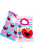 sesame street elmo slide - Sesame Street Elmo Toddler Baby Girls 2 Pack Cotton Cloth Bibs
