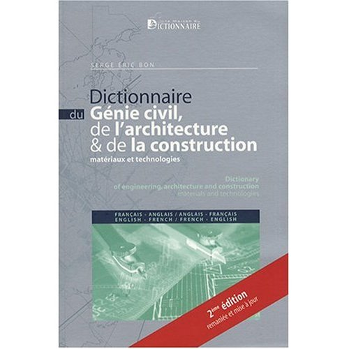 French to english and english to french dictionary of civil for Dictionnaire architecture