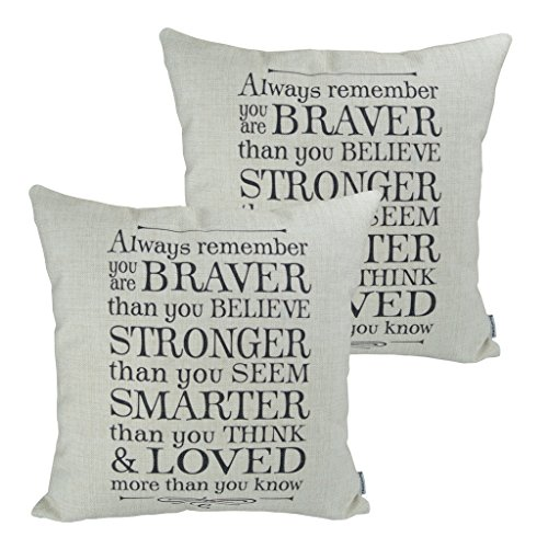 Inspirational Pillows With Quotes Amazon Com