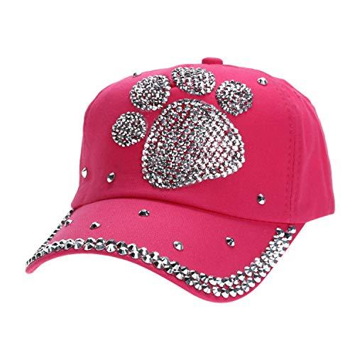カジュアル 子供 野球帽子 女の子男の子 ダイヤモンド帽子,ローズレッド,ハートシェイプ