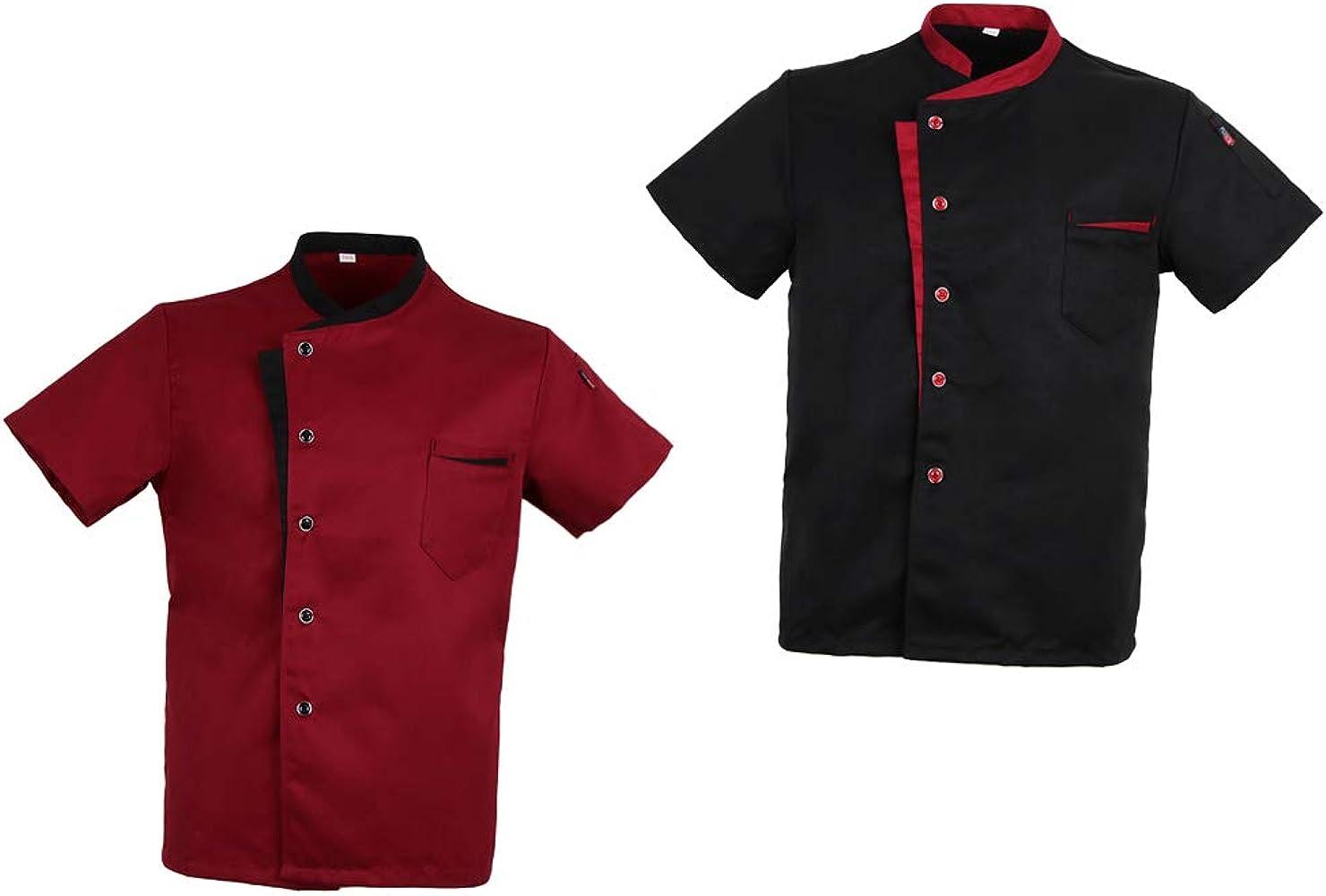 Baoblaze 2x Chaqueta de Chef Ejecutivo Moda Clásica Formal Ropa de ...