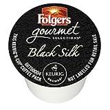 Folgers Gourmet Selections - Café seda negra, paquete de raciones para Keurig Brewers, 72 raciones.
