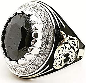 silver ring for men,size 7