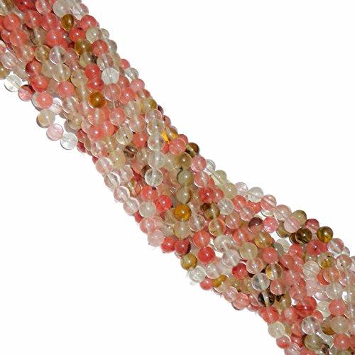 Fire Cherry Quartz Bead (Rockin Beads 8mm Fire Cherry Quartz Manmade Gemstone Round Beads 15