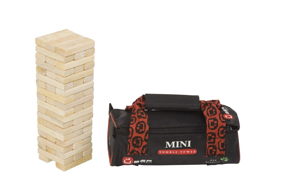Uber Games Tumble Blocks Stacking Game (Mini Hardwood - Grows up to 22 inches!)