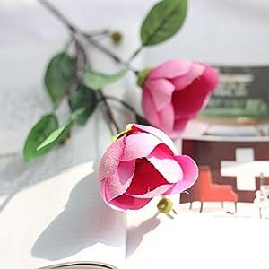 LtrottedJ Artificial Silk Fake Flowers, Magnolia Flower Wedding Bouquet Party Home Decor 27
