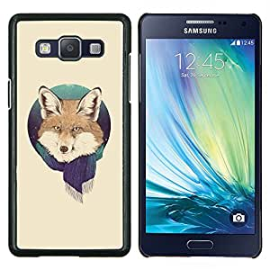 Cubierta protectora del caso de Shell Plástico || Samsung Galaxy A5 ( A5000 ) || Fox Retrato Foxy bufanda del invierno Bosque Nieve Animal @XPTECH