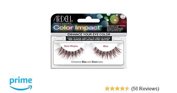 9020e67800c Amazon.com : Ardell Color Impact Lashes, Demi Wispies Wine : Fake Eyelashes  And Adhesives : Beauty
