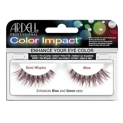e5c716e65df Amazon.com : Ardell Color Impact Lashes, Demi Wispies Plum : Fake Eyelashes  And Adhesives : Beauty