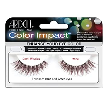 c3065505aba Amazon.com : Ardell Color Impact Lashes, Demi Wispies Wine : Fake Eyelashes  And Adhesives : Beauty