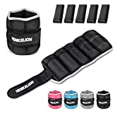 Henkelion (1 Pair) Adjustable Ankle Weights For Women Men Kids, 4lbs 6lbs 10lbs ( each 2lbs 3lbs 5lbs) Wrist Weights / Ankle Weights Sets For Gym, Fitness Workout, Running, Lifting Exercise Leg Weights