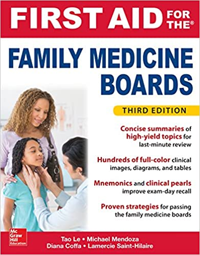 first aid for the family medicine boards, third edition (1st aid for the  family medicine boards) 3rd edition, kindle edition