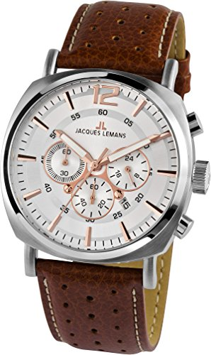 Jacques Lemans Men's 1-1645D Lugano Sport Analog Chronograph Watch