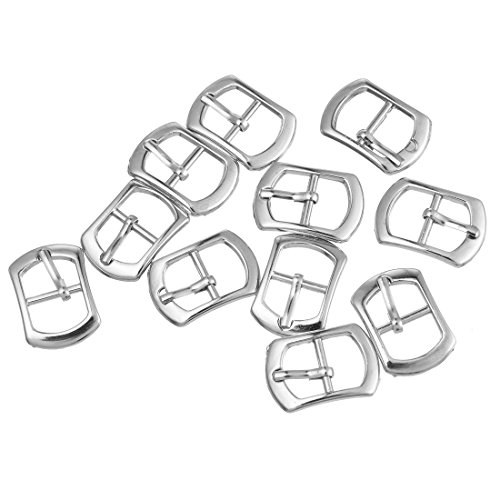 Souarts Silver Tone Color Metal Shoe Buckle Accessory Haberdashery Embellishment Findings Pack of 30pcs
