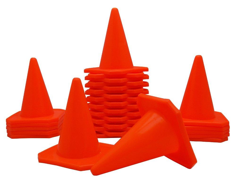 BlueDot Trading 4'' RC Racing Agility Cones, Orange  - Set of 30