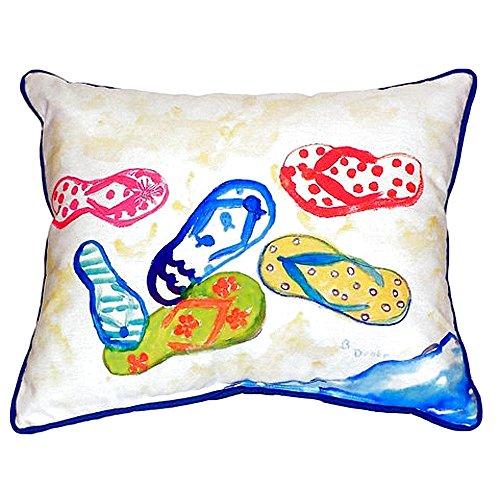 Betsy Drake SN154 Six Flip Flops Pillow,12