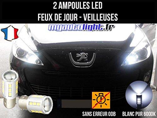MyAutoLight - Pack de luces de conducción diurna LED de color blanco xenon para Peugeot RCZ: Amazon.es: Coche y moto