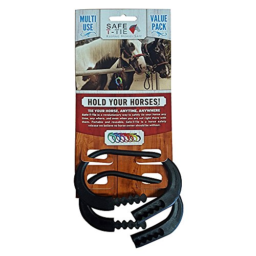 - Safety-T-Tie Injuries Preventing Strong & Sturdy Secure Horse Tie Down Ring 2 pcs