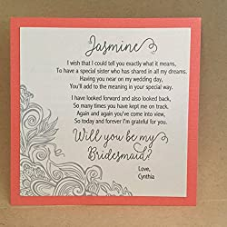 Custom Will You Be My Bridesmaid Card / Maid of Honor Cards / Bridesmaid Flower Girl Personalized Card Invite Bridesmaid Proposal {Corner Design 2}